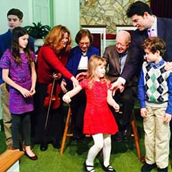 Lynn with Family and Jimmy Carter