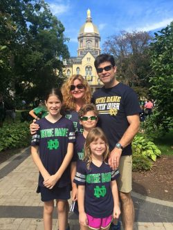 Lynn Laplante - candidate for DuPage County Board Chairman and her family at her alma mater - Notre Dame
